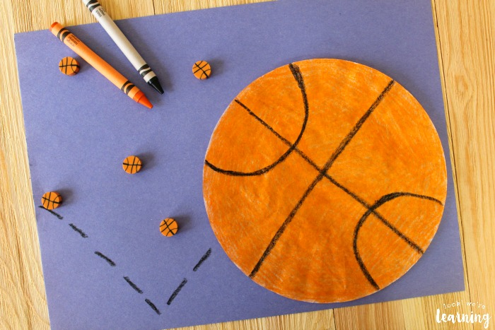 Super Easy Coffee Filter Basketball Craft for Kids