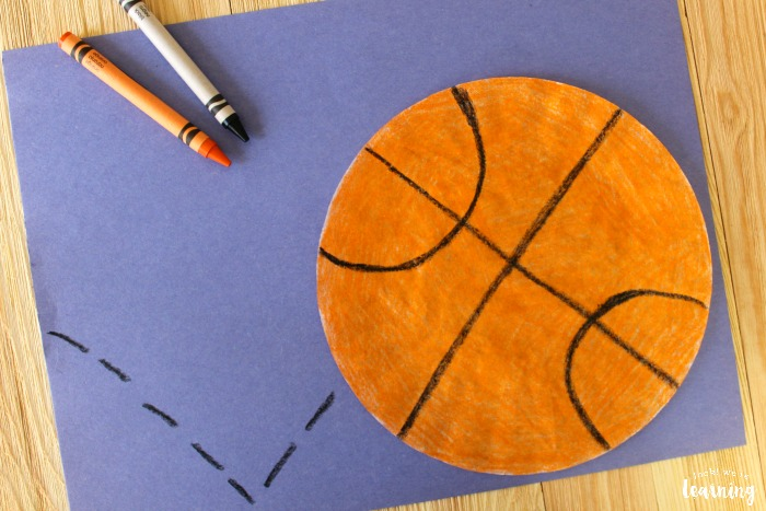 Super Simple Coffee Filter Basketball Craft for Kids