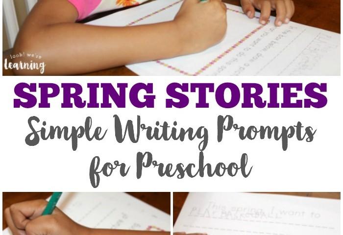 Spring Worksheets for Kids: Spring Preschool Story Prompts