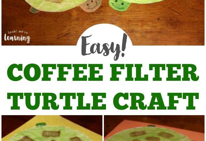 Coffee Filter Crafts for Kids: Coffee Filter Turtle Craft