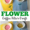 This super easy coffee filter flower craft is a perfect spring project for little ones!