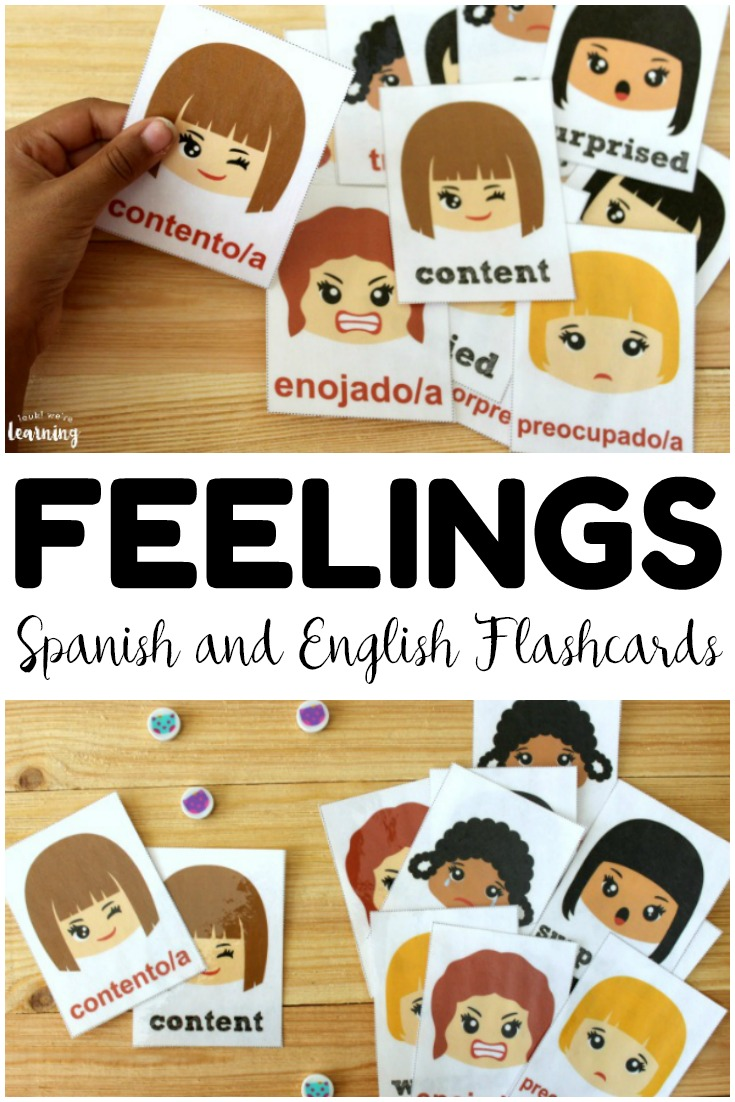Use these printable Spanish feelings flashcards to help early learners with social skills, ESL practice, and Spanish vocabulary! Great for literacy centers and review!