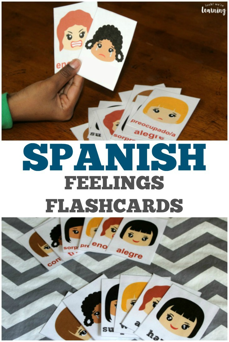 image regarding Feelings Cards Printable named Printable Spanish Emotions Flashcards - Appear to be! Ended up Finding out!