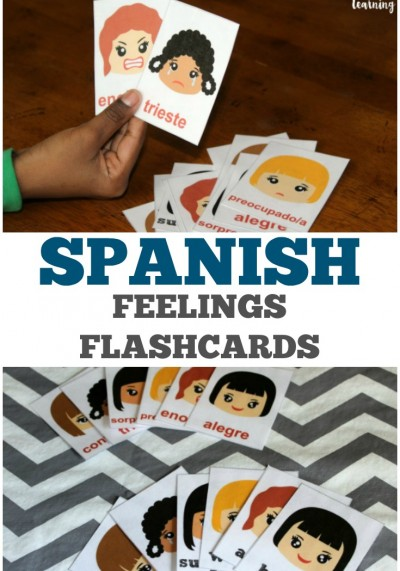 Use these printable Spanish feelings flashcards to learn basic emotions in both English and Spanish!