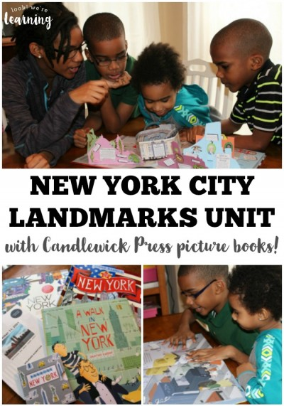 We took a virtual tour of New York City's famous landmarks with gorgeous New York City picture books from Candlewick Press!