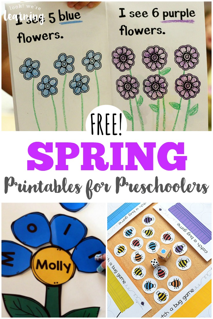 Work on essential early childhood skills with these free spring printables for preschoolers!