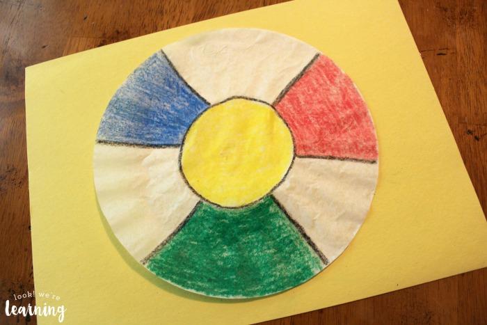 Beach Ball Coffee Filter Craft for Kids