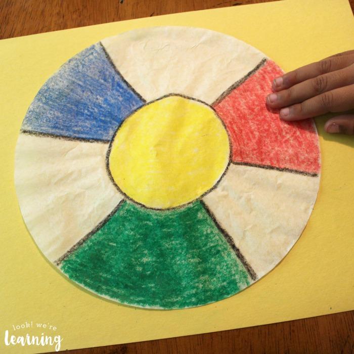 Coffee Filter Beach Ball Craft for Kids