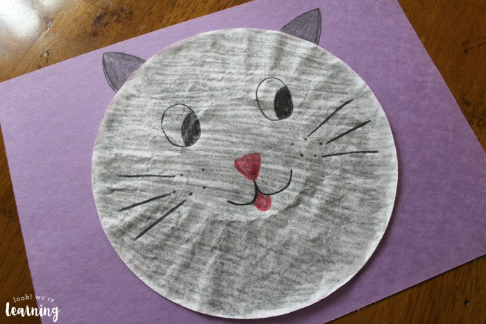 Coffee Filter Cat Craft for Kids