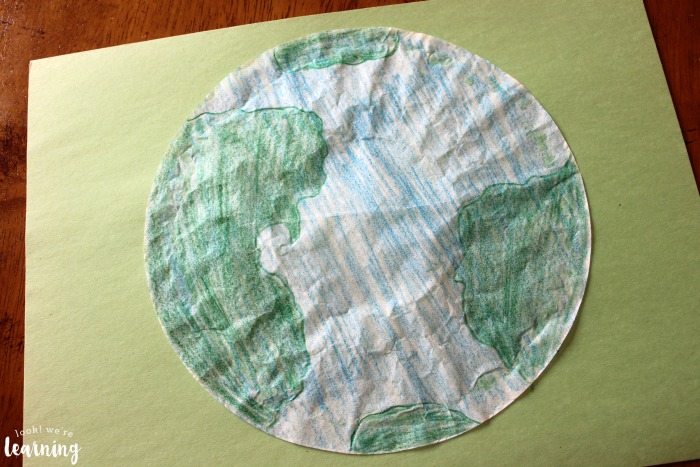 Coffee Filter Earth Craft Kids Can Make