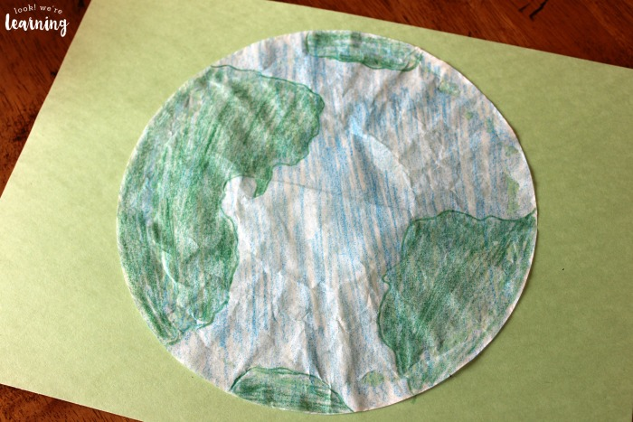 Coffee Filter Earth Craft Project