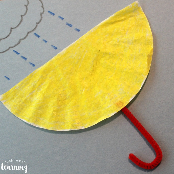 Coffee Filter Umbrella Craft