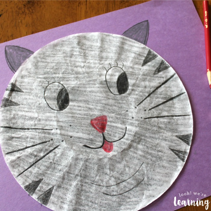 Cute Coffee Filter Cat Craft