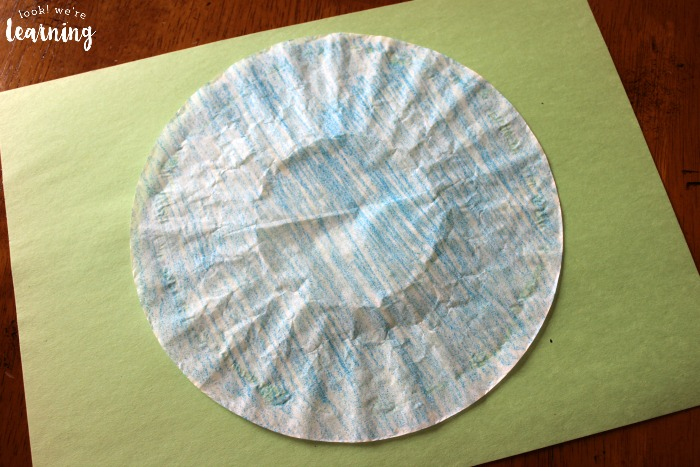 Earth Coffee Filter Craft for Kids