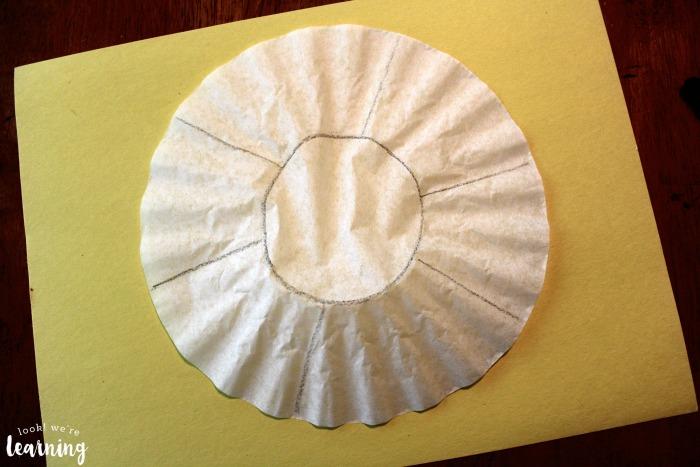 Easy Beach Ball Coffee Filter Craft