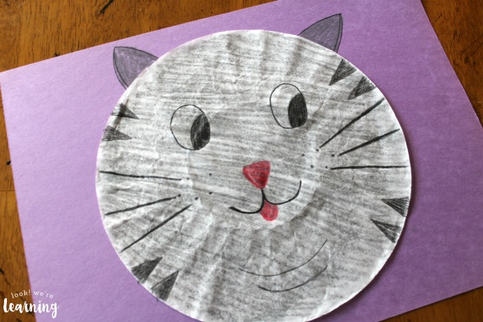 Easy Coffee Filter Cat Craft to Make