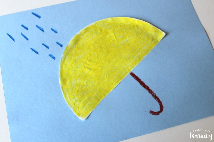 Easy Coffee Filter Umbrella Craft for Kids