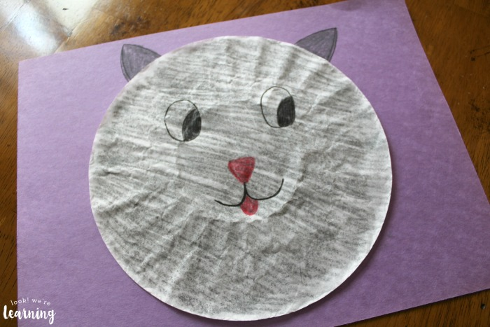 How to Make a Coffee Filter Cat Craft