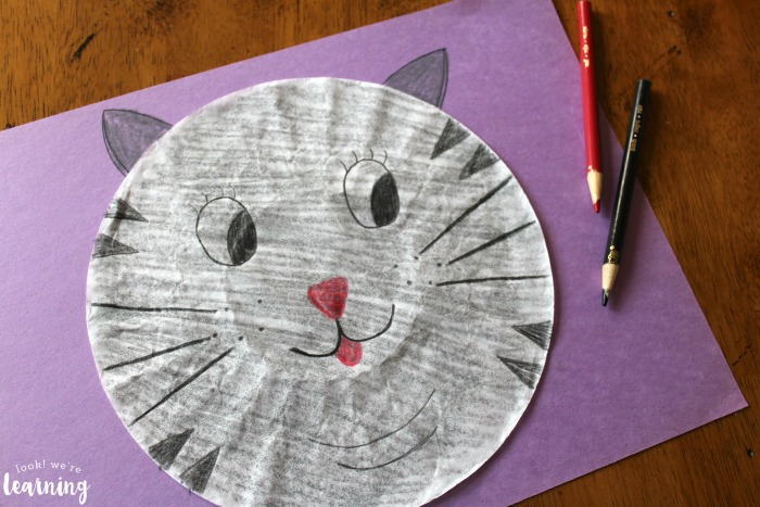 Kids Coffee Filter Cat Craft