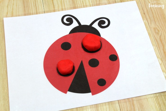 Ladybug Playdough Mats for Kids