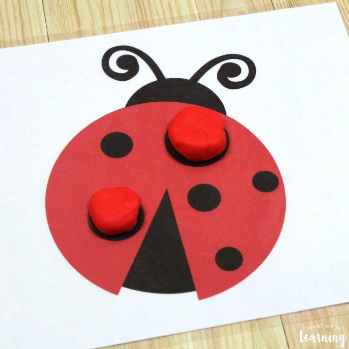 Ladybug Playdough Mats