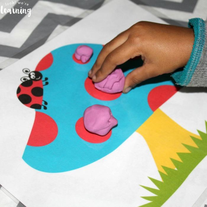 Ladybug Preschool Playdough Mats