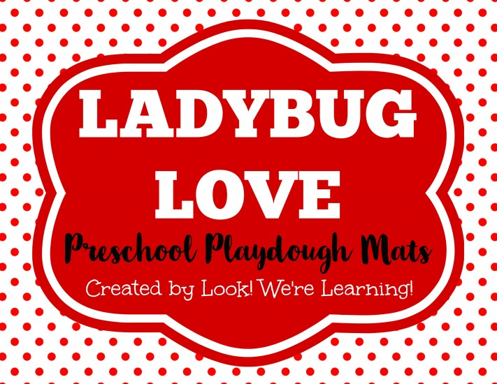 Ladybug Love Playdough Mats