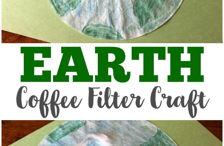Coffee Filter Crafts for Kids: Coffee Filter Earth Craft