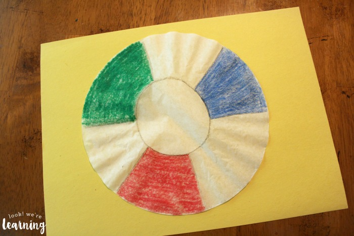 Making a Beach Ball Coffee Filter Craft