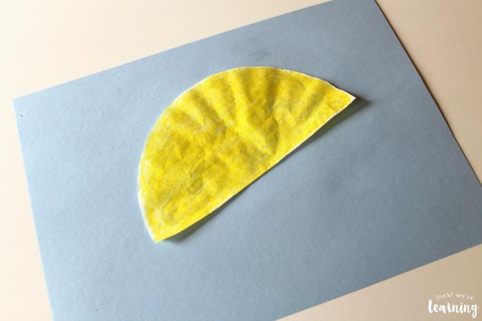 Making a Coffee Filter Umbrella Craft