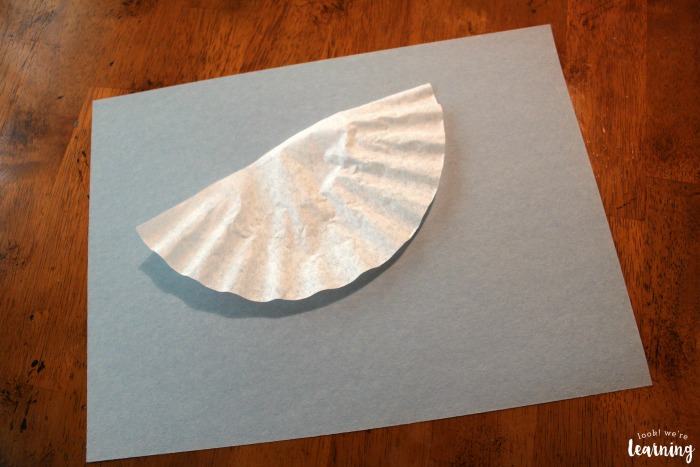Making an Easy Coffee Filter Umbrella Craft