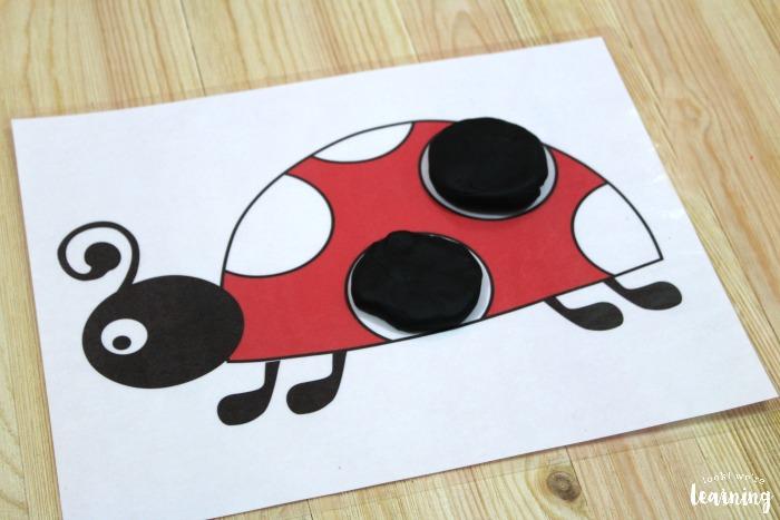 Preschool Ladybug Playdough Mats
