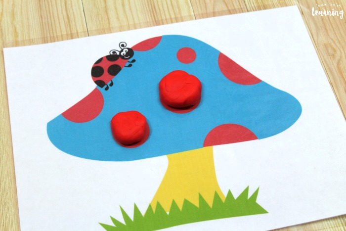 Printable Ladybug Playdough Mats for Kids