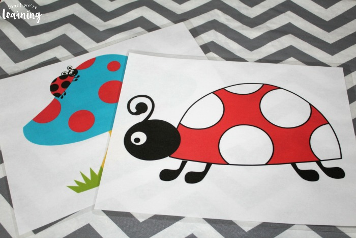Printable Ladybug Playdough Mats for Preschool