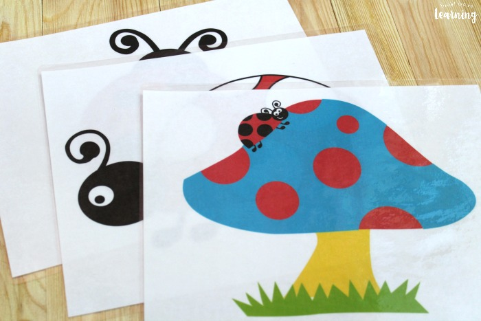 Printable Ladybug Playdough Mats