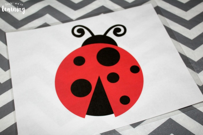 Printable Ladybug Preschool Playdough Mats