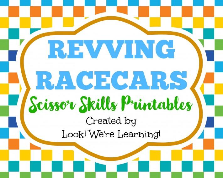 Revving Racecars Scissor Skills Printables