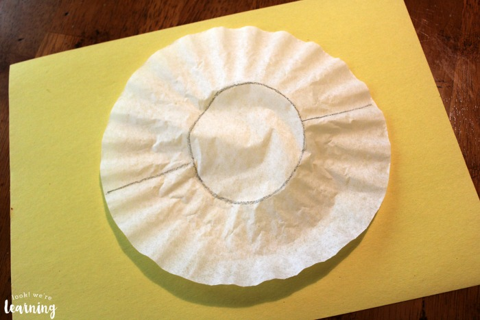 Simple Beach Ball Coffee Filter Craft
