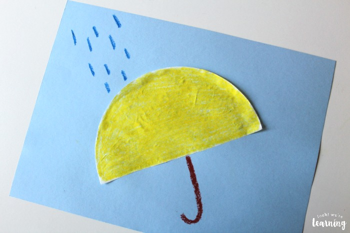 Simple Coffee Filter Umbrella Craft for Kids