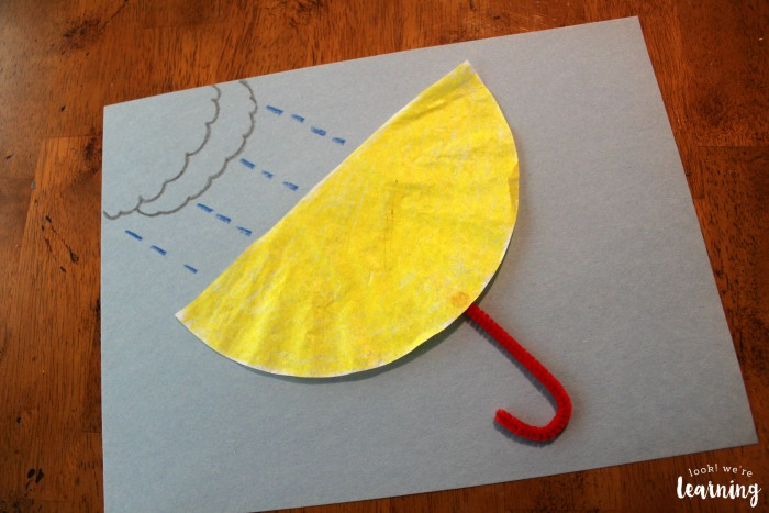 Simple Coffee Filter Umbrella Craft