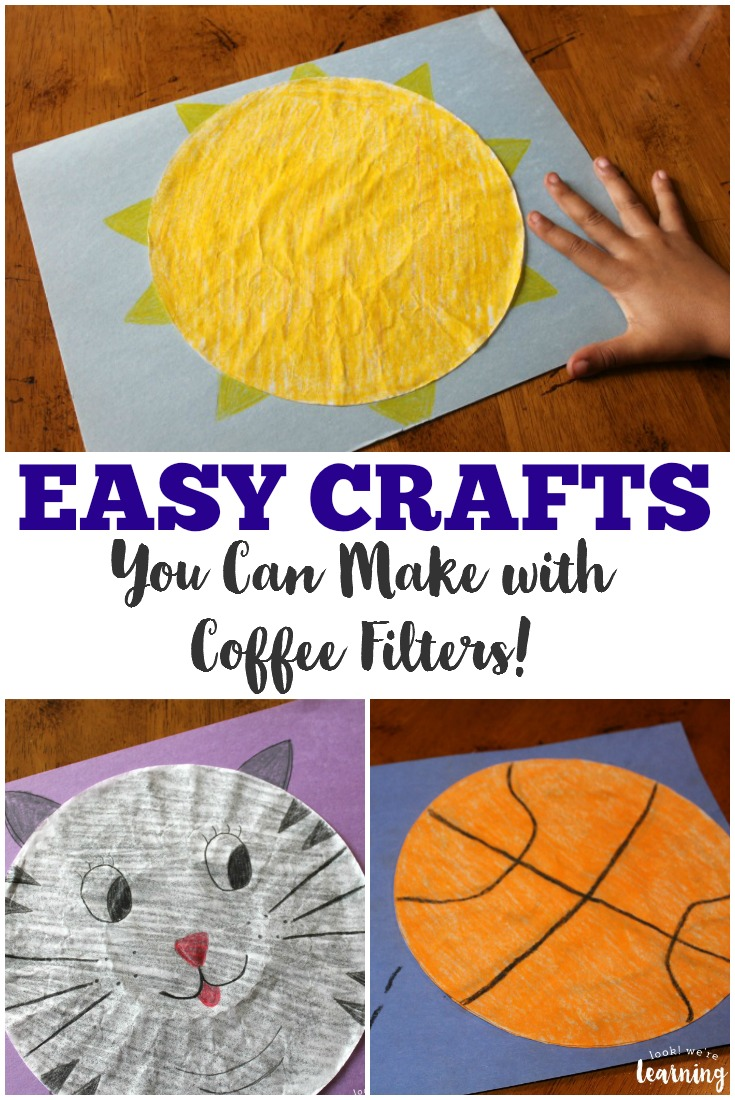 These easy coffee filter crafts for kids are fun and simple enough for everyone to make!