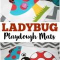 These printable ladybug playdough mats are so fun for preschool motor skill practice!