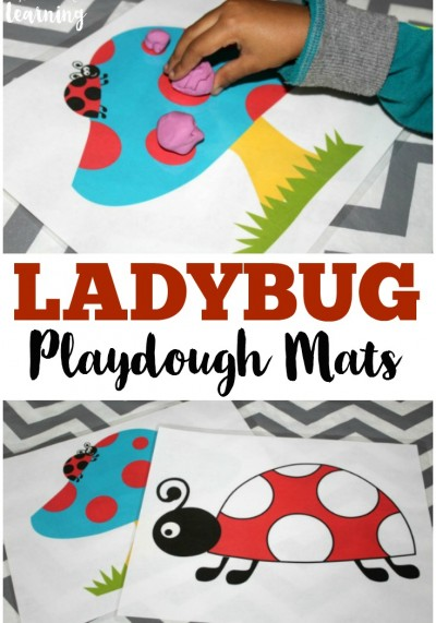 Preschool Playdough Mats: Ladybug Playdough Mats
