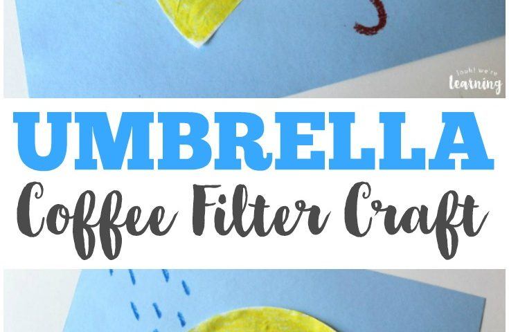 Coffee Filter Crafts for Kids: Coffee Filter Umbrella Craft