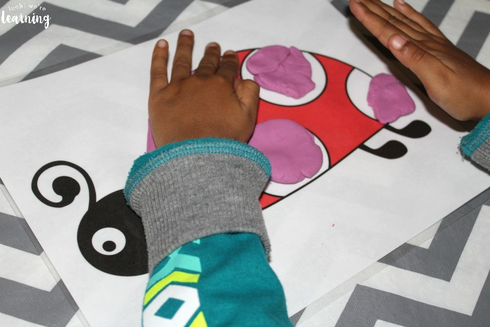 Using Preschool Ladybug Playdough Mats with Kids