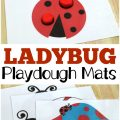 Work on fine motor skills - the fun way - with these printable ladybug playdough mats for preschoolers!