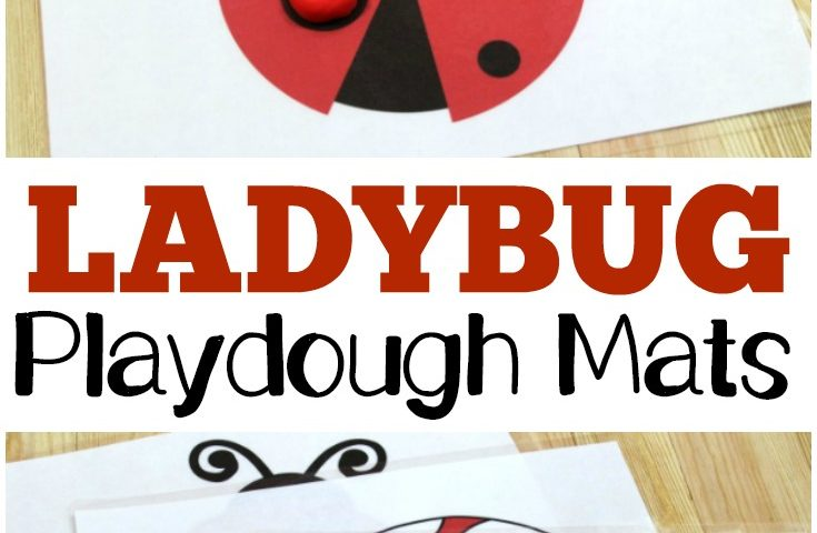 Preschool Playdough Mats: Ladybug Playdough Mats