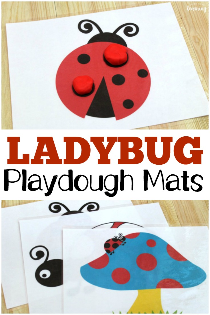 photo regarding Printable Ladybug named Totally free Ladybug Playdough Mats - Search! Were being Studying!