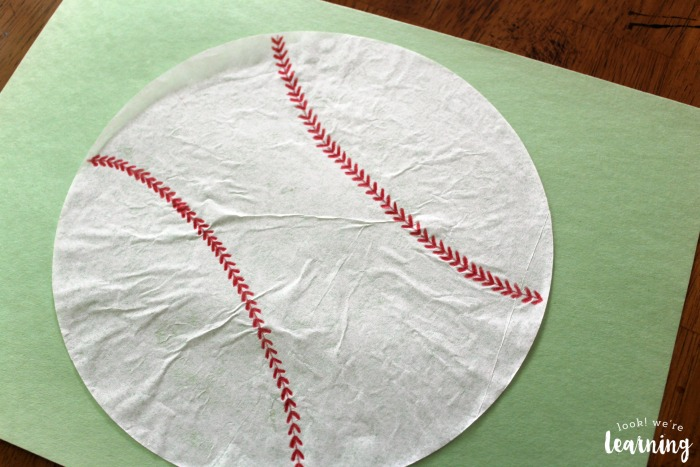 Coffee Filter Baseball Craft for Kids