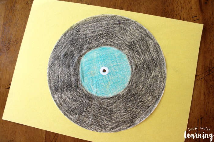 Coffee Filter Vinyl Record Craft